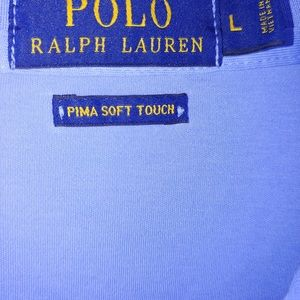 Polo Ralph Lauren Mens Shirt Pima Soft Touch Large
